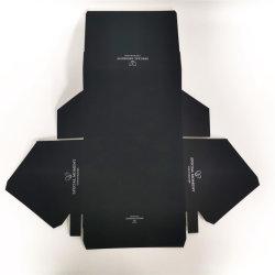 Flat Export papierbak voor weergave van zwart chocolade