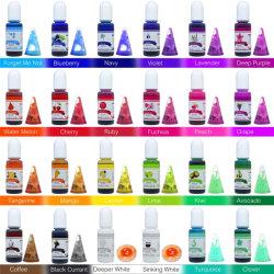 18 colori resina epossidica UV liquido colorante trasparente per UV Colorazione resina