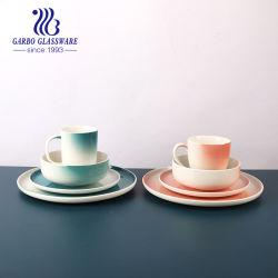16 pcs ensemble plaque de grès de la vaisselle Ab Grade Bol en porcelaine Tasse en céramique fixe