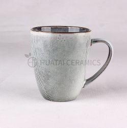 Nouveau produit 13oz céramique grès populaire tasse à café de glaçure réactive créatif