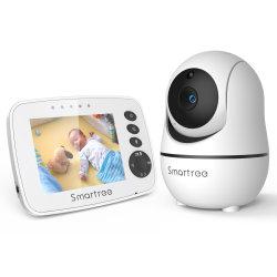 """Видео наблюдения за ребенком с удаленной камеры поворотно-Zoom, 3,2"""" цветной ЖК-экран, инфракрасное ночное видение, отображения температуры, колыбельная, дуплексного аудио"""
