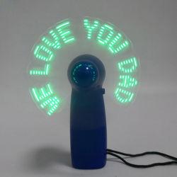 Linli cadeau promotionnel pour le père' s jour voyant vert personnalisé jusqu'à clignoter slogan le ventilateur