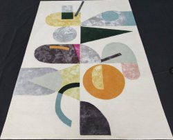 居間の使用のマットのためのハンドメイドのクラフトの敷物によるウールのビスコースタケ絹のアクリル材料が付いているカスタマイズされたカーペット