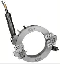 Bewegliches Aufspalten-Rahmen Vor-Schweißen, das Außendurchmesser-Eingehangene Rohr-kalte abschrägenausschnitt-Maschine aufbereitet