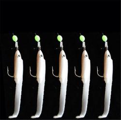 Мягкая приманка Sabiki Baits приманка с белым небольших рыб Sabiki буровых установок для Рыбалкой Sabiki решения