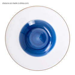 Shenone handgemachte keramische Großhandelsplatten verurteilen die Porzellan-Teller-Hochzeits-Platten, die für Gaststätten keramisch sind