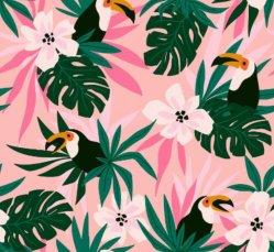 Diseño personalizado de Flor tropical Spandex Lycra elástica de 4 vías de tela para trajes de baño