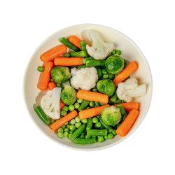 凍結する野菜トウモロコシ、大豆、水クリ、豆、混合された野菜