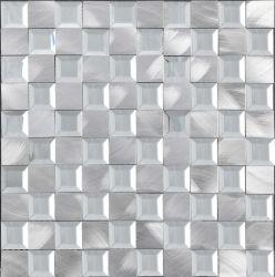 Hochwertige Innendekoration silbrig Farbe Aluminium mit Glas Mosaik Für Hintergrund