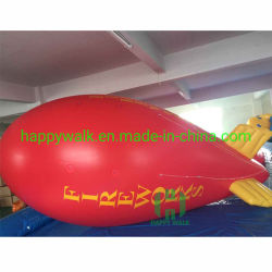 0,18mm PVC Blimp inflável para venda, controle de rádio Blimp, Zeppelin Balão de helio