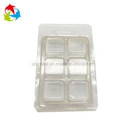 Faire fondre la cire PVC personnalisée Pet clair les emballages en plastique de benne