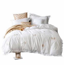 100% algodão Bordados Lençol Edredon cobrir carpete sheet Home