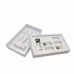 使い捨て可能で明確で白いプラスチックワクチン接種の医学の皿