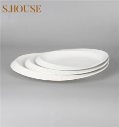 عشاء [هندمد] بيضاء لوحات خزفيّة بالجملة يثبت