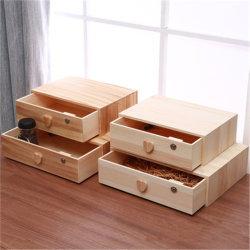 미니 나무 서랍식 용지함 테이블 상판 외관 보관 기구 테이블 상단 구성창(하트 핸들 포함
