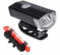 자전거 가벼운 공장 힘 은행 300lm/500lm LED 자전거 360 도 교체 홀더 USB 재충전용 정면 맨 위 자전거 빛