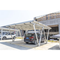 태양 간이 차고 알루미늄 프레임 태양 설치 간이 차고 부류 건축