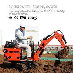 0.8 Ton Ton hasta 2 toneladas de 1 Nueva China CE pequeño ISO cuchara hidráulica Excavadora de orugas miniexcavadora para la venta con precio de fábrica barata