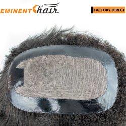 I capelli umani su ordine mono con l'unità di elaborazione hanno orlato la parrucca naturale del Toupee delle donne