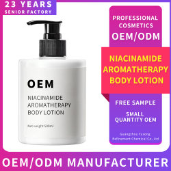 Soins de la peau sous étiquette privée Niacinamide Lotion pour le corps d'Aromathérapie