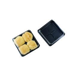 Одноразовые малых Food Grade Пэт прозрачные пластиковые контейнеры для торта