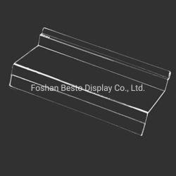 Shoes Store 디스플레이에 사용된 MDF Slatwall 디스플레이용 Slatwall Clear Acrylic Shoe Shelf