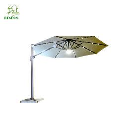 야외 가든 비치 선 셰이드 우드 폴 조정 가능한 파티오 우산