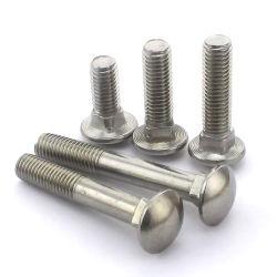 SS304/SS316 DIN603 مسامير ربط حامل من الفولاذ المقاوم للصدأ/مسامير عنق مربع الرأس