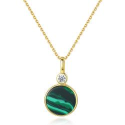 الموضة 925 فضة مجوهرات مجوهرات عقد مع مالاشيت