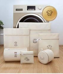Sacchetto di lavaggio della maglia dei sacchetti della lavanderia di alta qualità con lo sguardo di modo