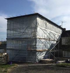 مظلة شبكة أمان البناء للسكاتونول PE لحماية سلامة البناء