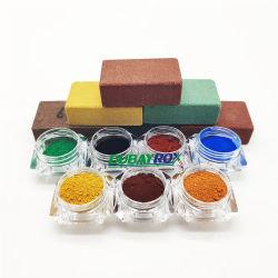 Cor inorgânicos de óxido de ferro Vermelho/Amarelo/Preto/pigmento castanho Fe2O3 em pó de cimento de óxido de ferro vermelho de Pigmentos Inorgânicos pigmento de cor para plástico/Paint/concreto