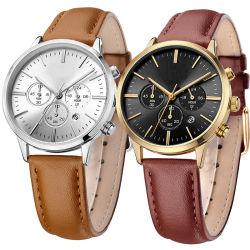 Horloge Van uitstekende kwaliteit van de Chronograaf van de Dames van de Lage Prijs van het Merk van de fabrikant het Dunne Goedkope