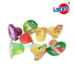 Personalizable 16,5g de gelatina de frutas en la ronda de la fábrica Larbee Jar
