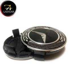 Schwarzes und silbernes Rad-Mitte-Schutzkappen-Abwechslungs-Emblem-Abzeichen des Kohlenstoff-75mm