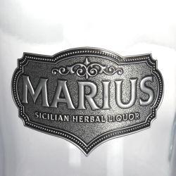 ワイン酒グラスボトルアルミニウムメタルラベル