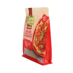 Cierre de cremallera ecológicos reciclados de plástico reciclable PE4 de los envases de alimentos con ventana bolsa con cremallera