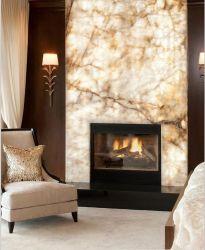 Alabastro natural de pedra artificial translúcido para decoração de paredes de pedra e Lareira