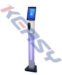 Het infrarode Digitale LCD Systeem van de Opkomst van de Tijd van de Meting van de Temperatuur van het Lichaam van de Thermometer met de Erkenning van het Gezicht