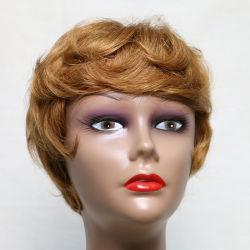 100% من أساليب الجمال البشري الكاملة اصطناعية الشعر مختلطة الشعر الطبى Wigs للنساء