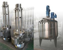 Misturador de cisalhamento elevadas tanque homogeneizadora de sabão líquido tornando