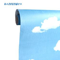 Le papier peint auto-adhésif étanche pour chambre de bébé bleu ciel PVC Wallpapers