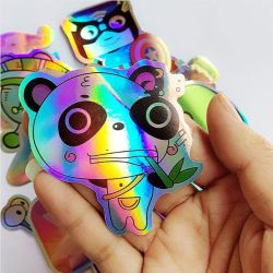 Portátil de diamantes holográfica del holograma etiqueta de logotipo personalizado