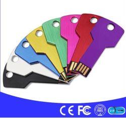 Soemunterstützen kundenspezifisches USB-geformtes Feder-Schlüssellaufwerk 2GB 4GB 8GB 16GB 32GB, SchlüsselFlash-Speicher 2.0 USB-Stock
