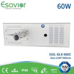 60W calle la luz solar con paneles solares de alta eficiencia y alta fuente de luz LED Lumen