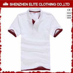 Breathable Mens nehmen passendes weißes Polo-Hemd mit roter Muffe ab (ELTMPJ-262)