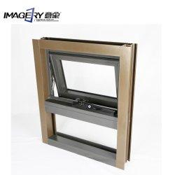 L'imagerie de matériaux de construction fait sur mesure en aluminium haut de page d'ébarbage Hung Windows