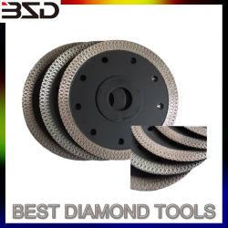 Turbo Type diamant sec la lame de scie de coupe en céramique