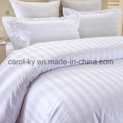 100% coton Hotel 1cm/2cm/3cm Housse de couette Linge de lit à rayures