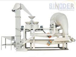 Shell décorticage des graines de tournesol de la machine de décorticage de bombardements de sarrasin d'équipement de la machine avec système de séparation et nettoyage